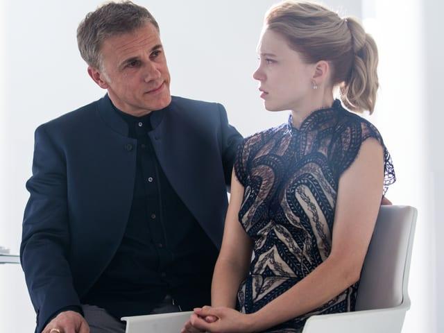 Bond-Oberschurke Oberhauser (Christoph Waltz) und Bond-Girl Swann (Léa Seydoux).