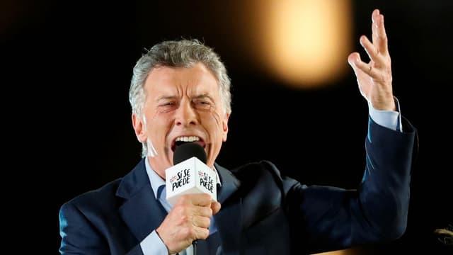 Macri bei einer Wahlkampfveranstaltung.