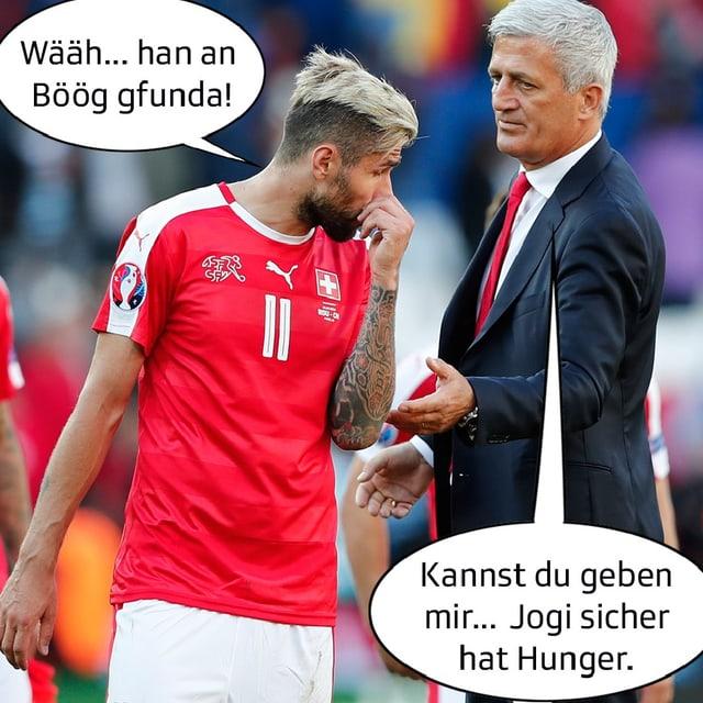 Trainer und Behrami