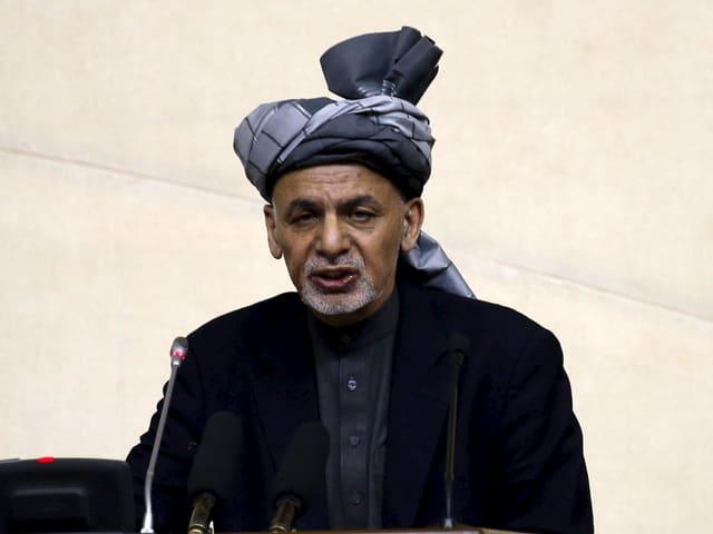 Präsident Ghani im April 2016 in Kabul