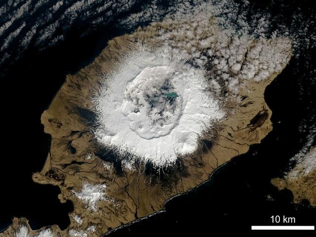 Vulkan von oben.