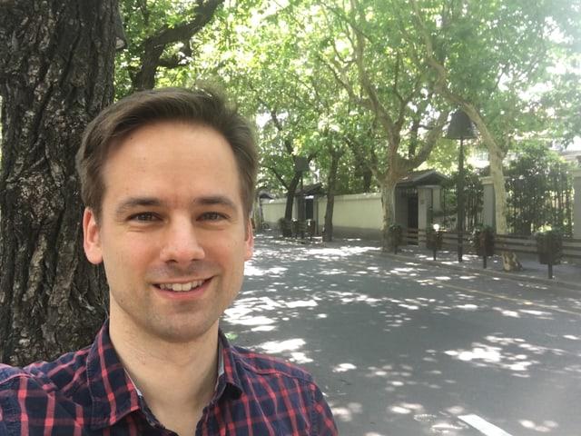 Martin Aldrovandi in seinem Wohnquartier - der Französischen Konzession.
