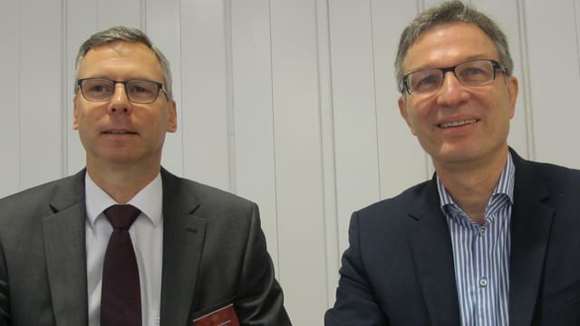 Hans-Ruedi Christen und Walter Huber.