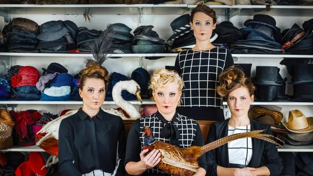 Die vier Sängerinnen der Acapella-Band «famm».