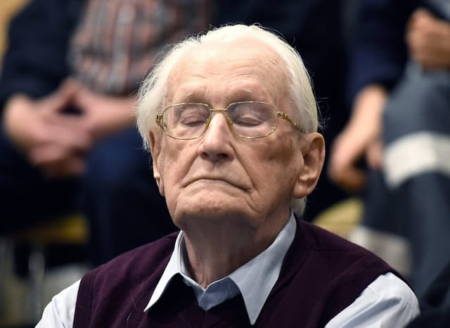 Oskar Gröning bei der Verkündung seines Urteils.