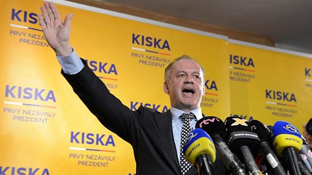 Andrej Kiska jubelt