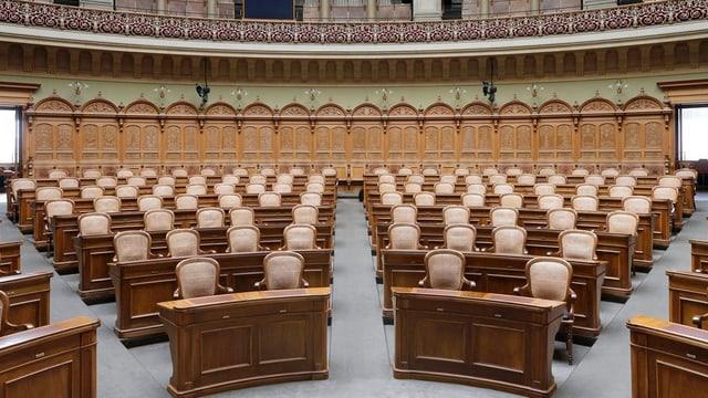 Der Nationalratssaal in Bern.