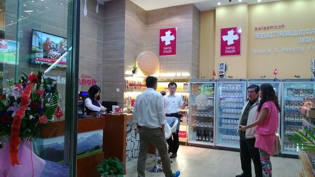 Laden in China mit Milchprodukten
