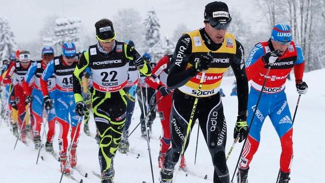 Dario Cologna will in Davos sein Trikot als Gesamtweltcup-Führender verteidigen.