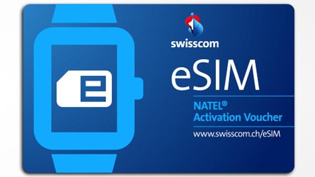 Eine Aktivierungskarte für eine eSIM.