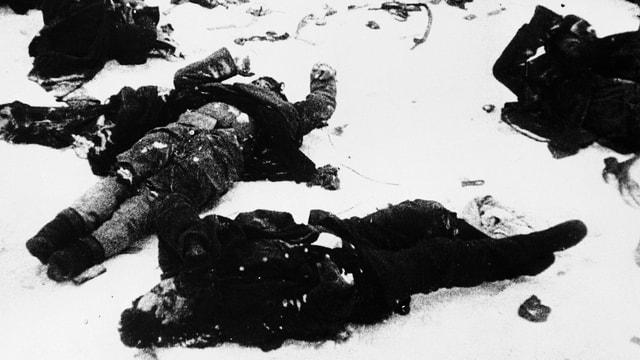 Leichen im Schnee.