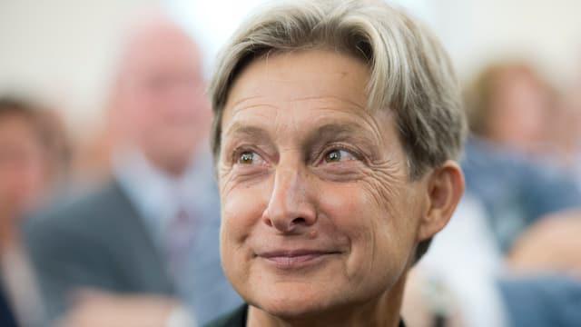 Die Philosophin Judith Butler in einem Porträt.