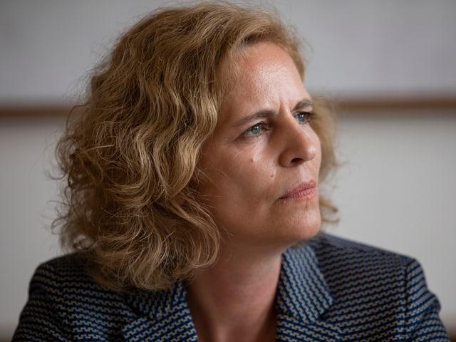 Portrait von Zürichs Stadträtin Karin Rykart