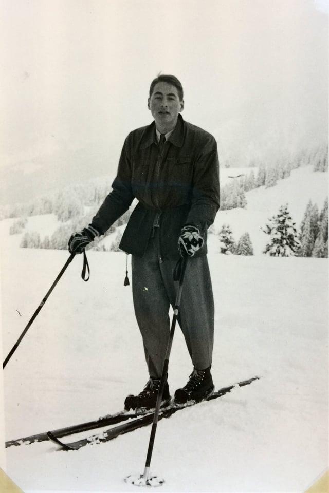 Skifahrer im Schnee.
