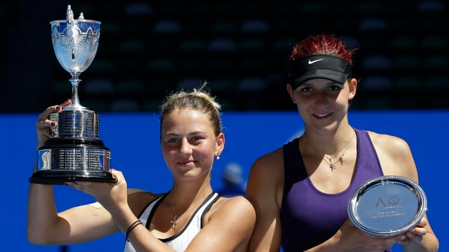Marta Kostyuk bezwang im Juniorinnen-Final Rebeka Masarova.