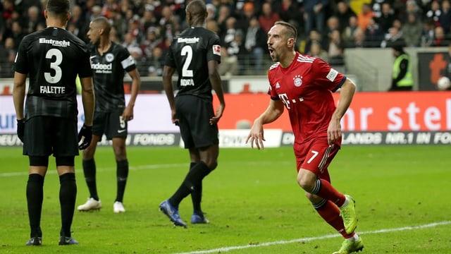 Franck Ribéry jubelt nach dem 1:0.