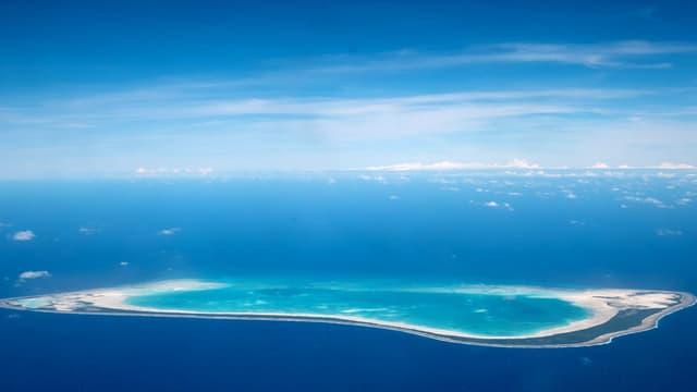 Insel aus dem Flugzeit aufgenommen.