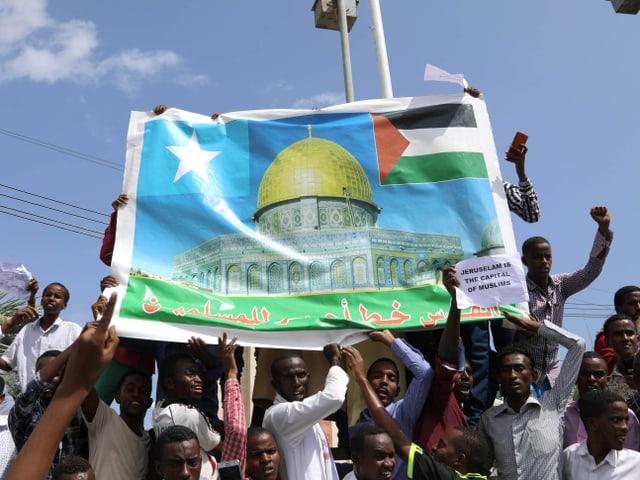 Proteste in Mogadischu.