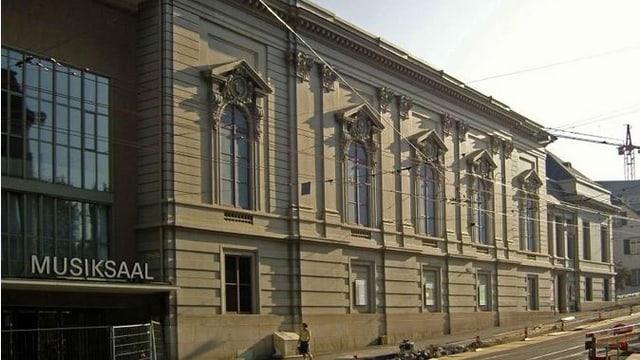 Stadtcasino, Fassade Kohlenberg. Dort werden die Instrumente etc. angeliefert.