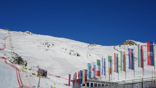 WM-Piste bei strahlendem Sonnenschein
