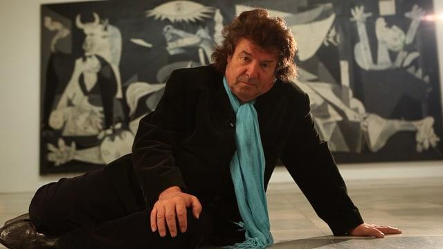 MOrentes vor Picassos Gemälde «Guernica».
