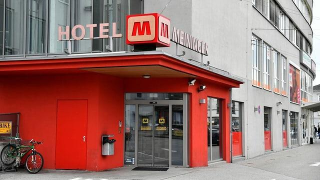 Hoteleingang in Salzburg