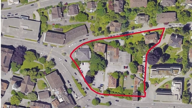 Luftbild des Areals am Platztor