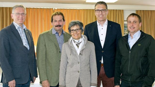 Urs Hardegger, Duri Campell, Elisabeth Mani-Heldstab, Andreas Felix, Daniel Buchli.
