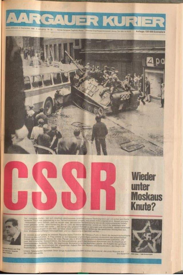 Scan eines alten Zeitungsartikels.