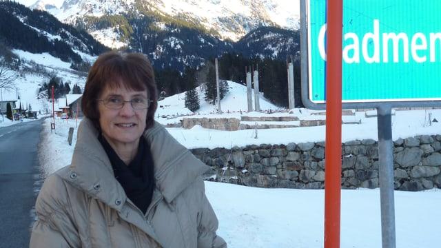 Barbara Kehrli, noch bis zum Jahresende Gemeindepräsidentin von Gadmen.