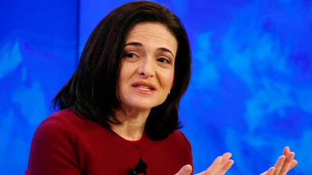 Sheryl Sandberg von Facebook am WEF 2016.