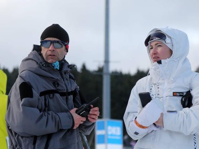 Ole Einar Björndalen und Darija Domratschewa