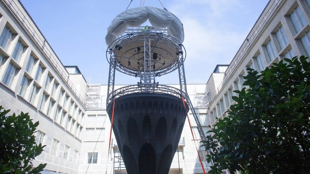 Klangturm im Innenhof des Kunstmuseums
