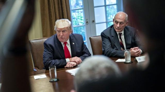 John Kelly mit Trump im Weissen Haus
