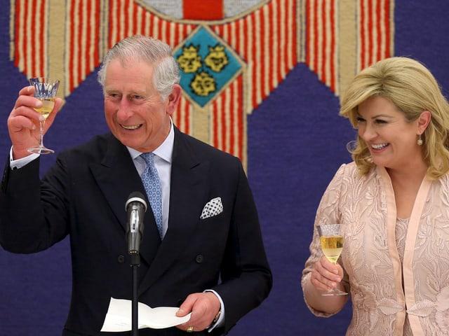 Prinz Charles und die kroatische Präsidentin