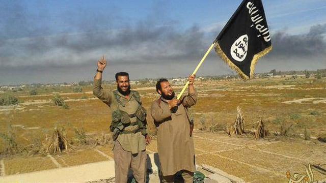 Mitglieder des IS in Falludscha, Irak.