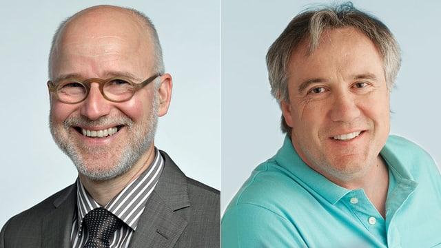 Portraitaufnahmen der beiden Chat-Experten
