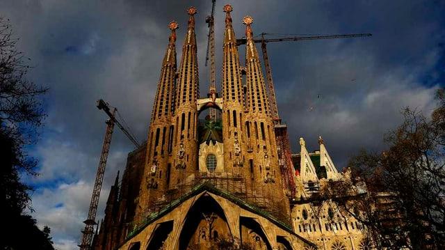 Basilika Sagrada Familia a Barcelona.