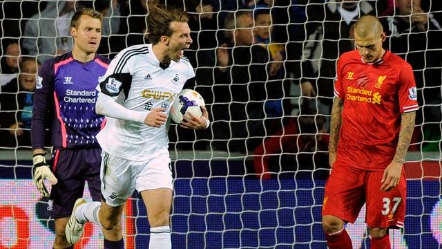 Swanseas Michu nach dem Ausgleichstreffer gegen die «Reds».