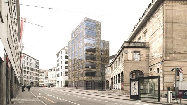 Spiegelgasse mit Neubauprojekt