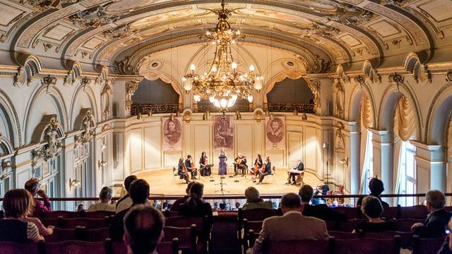 Die Sirius Viols in der Tonhalle Zürich.
