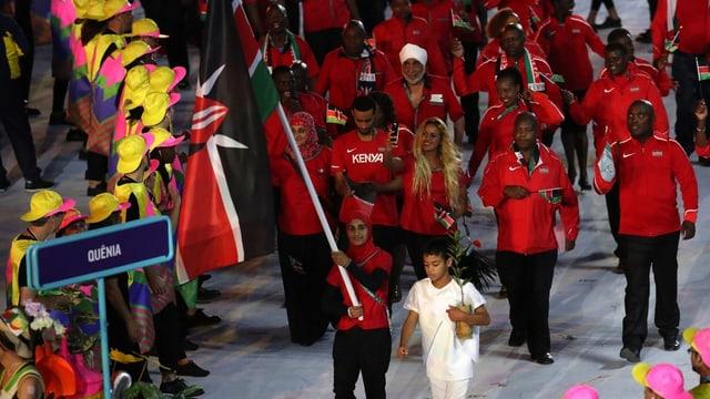 Die kenianische Delegation an der Eröffnungsfeier
