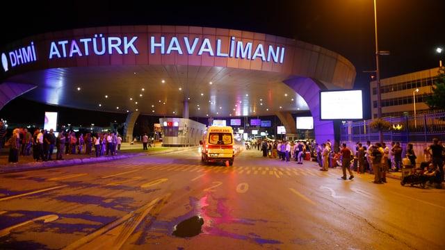 Aussenansicht des Flughafens Atatürk.