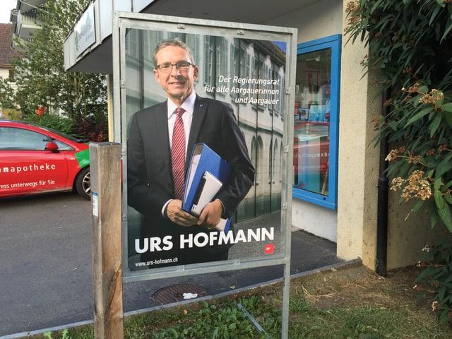 Wahlplakat von Urs Hofmann.