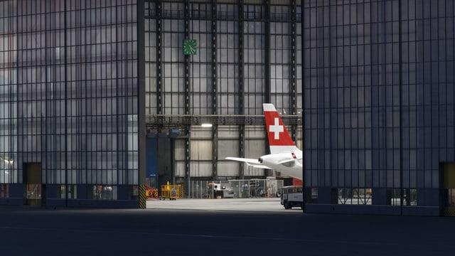 Ein Flugzeug der Swiss