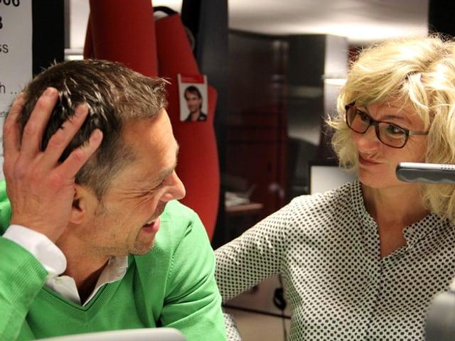 Matthias Hüppi im SRF-Radiostudio.