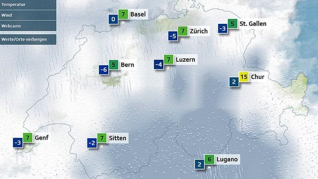 Schnee in der Schweiz?