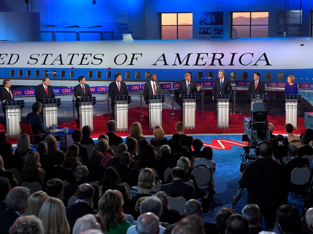 Blick auf die Kandidaten.