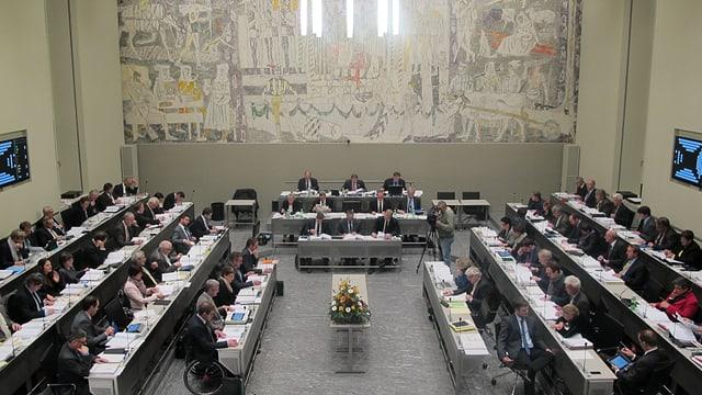 Blick in den Parlamentssaal