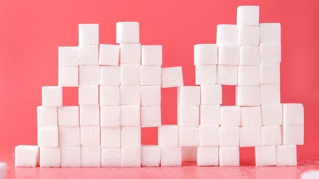 gestapelter Zucker